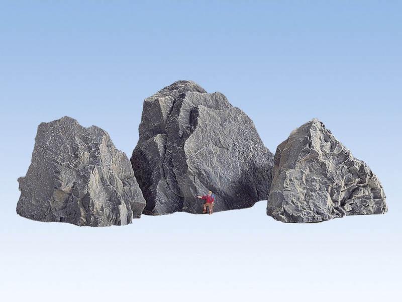 Felsen Arlberg aus Struktur-Hartschaum 3 Stück