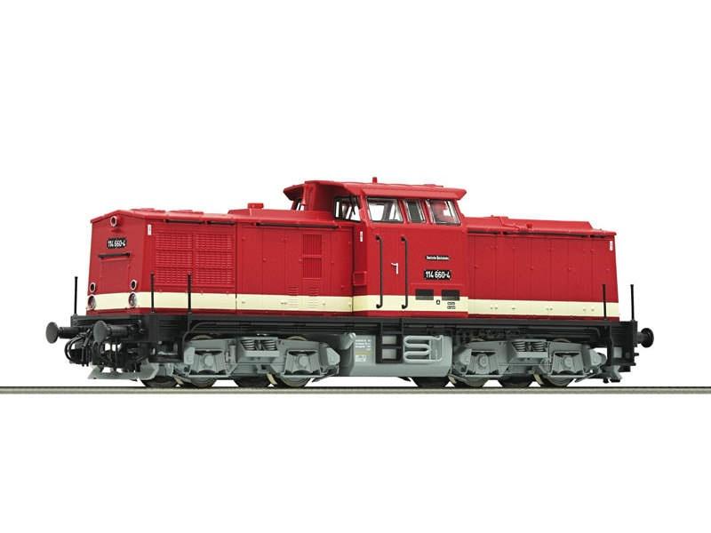 Diesellokomotive 114 660 DR TT