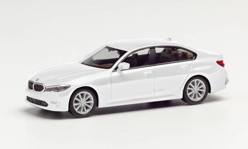 BMW 3er Limousine, Alpinweiss, 1:87 / Spur H0