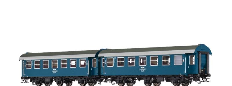 Personenwagen B3yg der Tegernsee Bahn, 2er-Set, DC, Spur H0