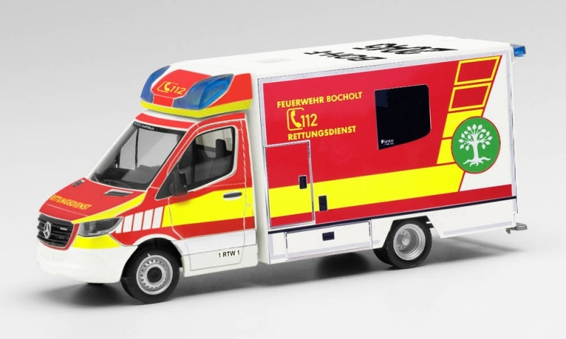 Mercedes-Benz Sprinter`18 Fahrtec RTW, 1:87 / Spur H0