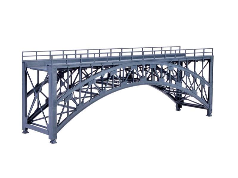 Stahlbogenbrücke Schlossbach, gerade, Bausatz, Spur H0