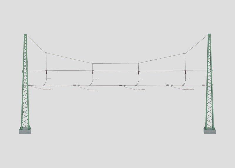 Quertragwerk für 4 Gleise H0