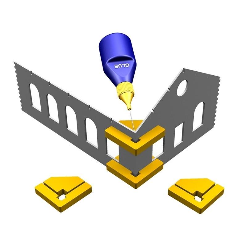 Snap & Glue-Rechtwinkel (2 magnetische Halterungen)