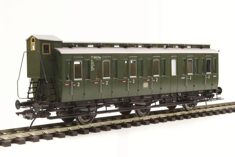Preußischer Abteilwagen Bauart C3, mit Bremserhaus, Spur 0