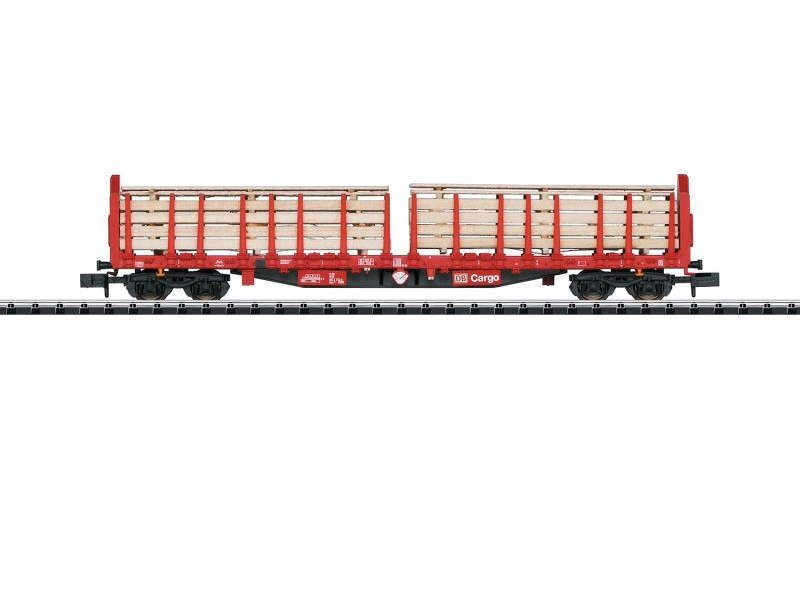 Rungenwagen Holztransport der DB, Minitrix Spur N