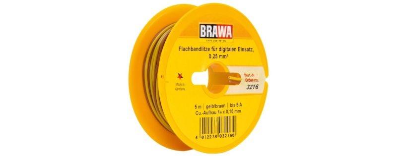 Doppellitze 0,25 mm², 5 m Spule, gelb/braun