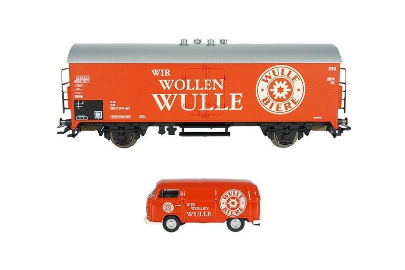 Kühlwagen und VW Transporter T2 Wir wollen Wulle, AC, H0