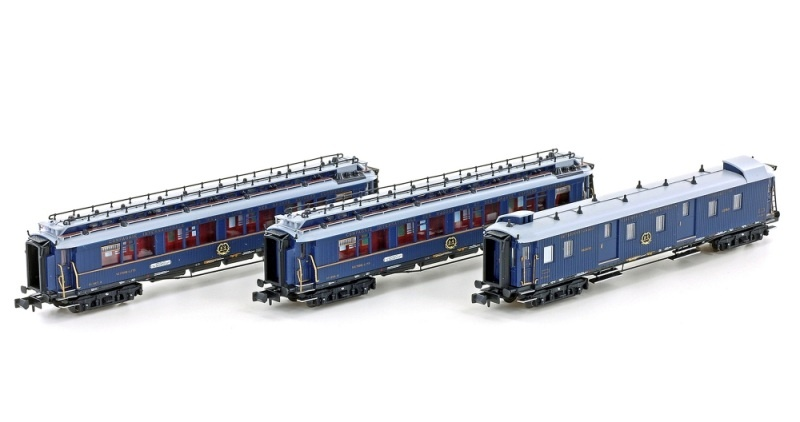 3er Set Personenwagen CIWL, Ep.II, Set 1, blau, Spur N