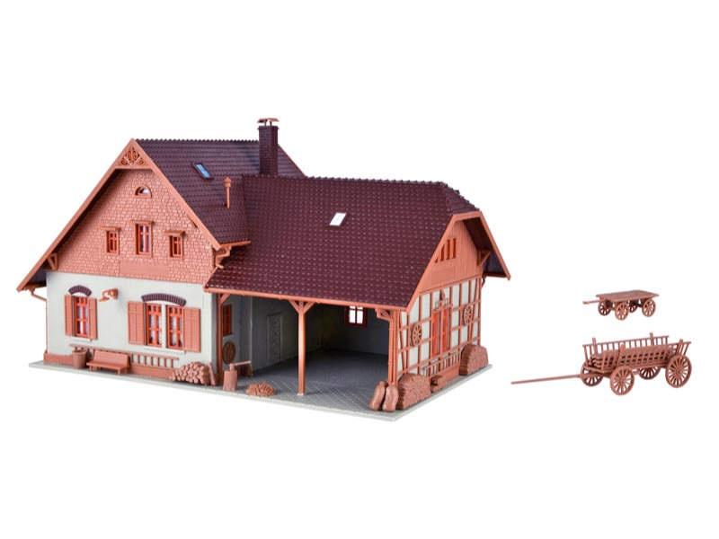Bauernhaus mit Remise, Bausatz, Spur H0