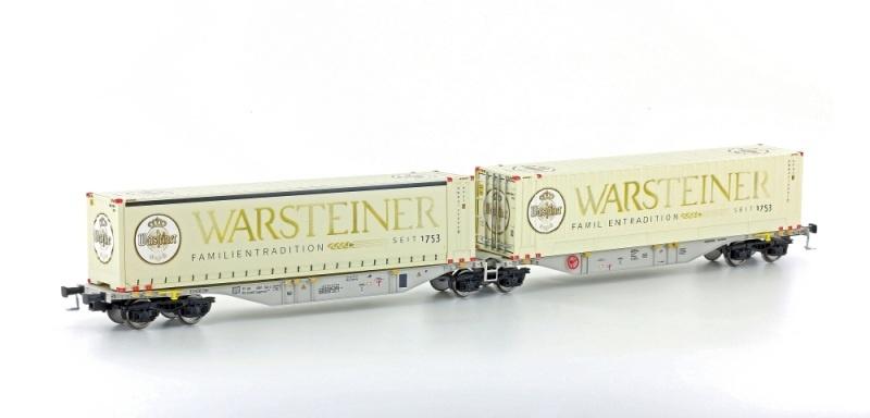 Containertragwagen Sggmrss 90 grau der AAE, DC, Spur H0