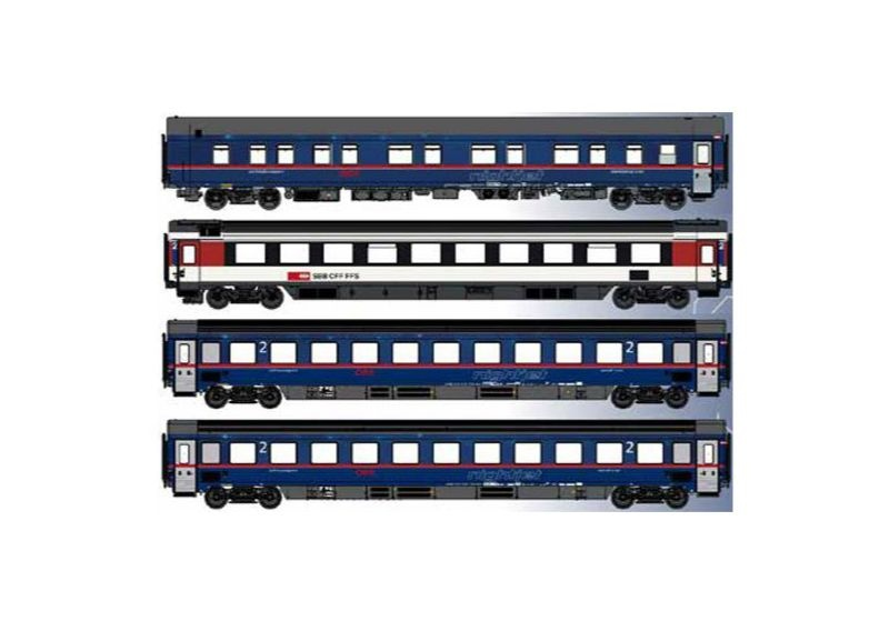 4er Set 1 Nachtzugwagen ÖBB nightjet, Ep.VI, Set A EN470, H0