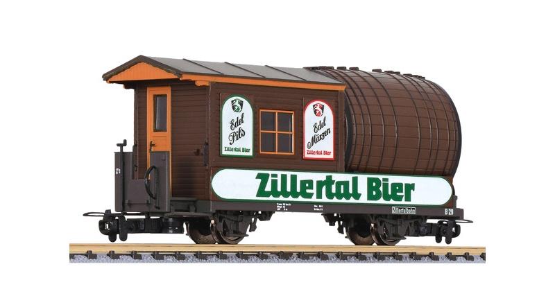 Fassl´wagen B29 der Zillertalbahn Zillertal-Bier, Spur H0e
