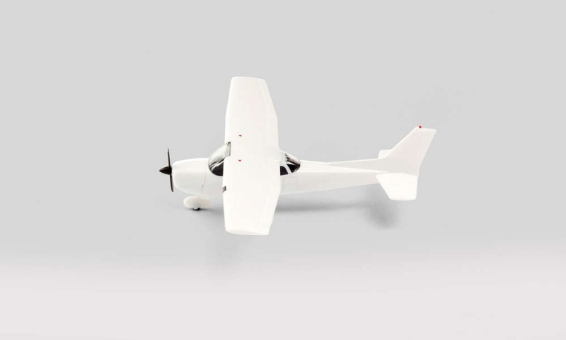 Minikit Sportflugzeug, weiß, 1:87 / Spur H0