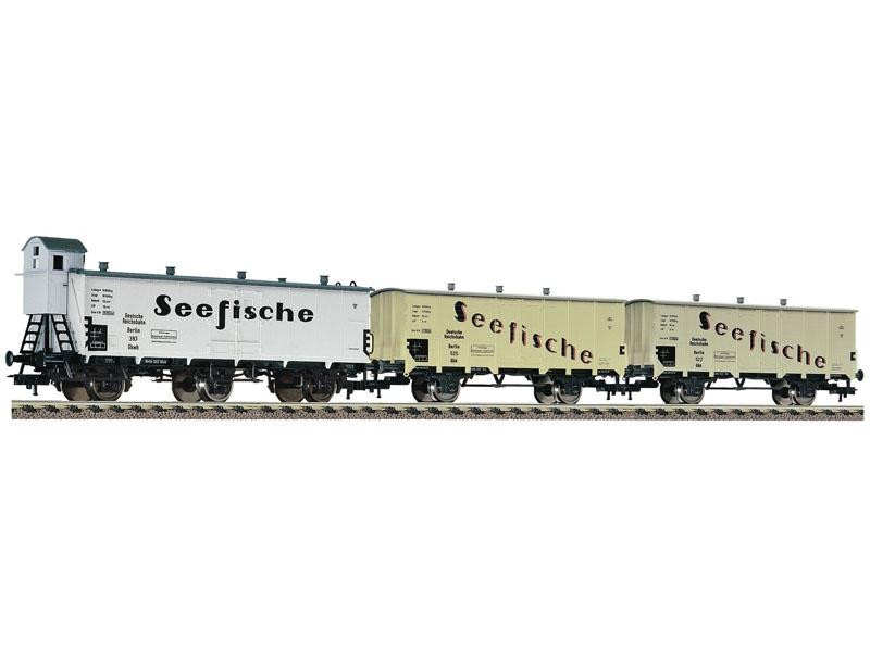 3-tlg. Güterwagenset Seefische der DRG, DC, H0