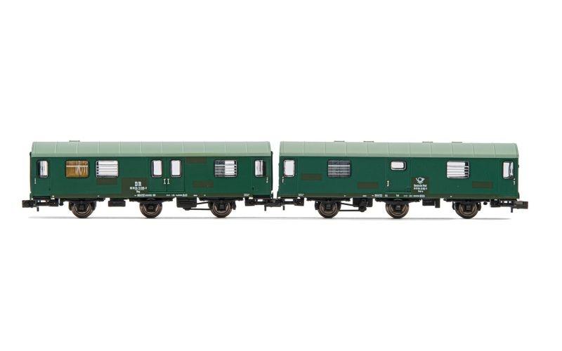2-tlg. Set Reisezugwagen der DR Rekowagen, Ep. IV, Spur N