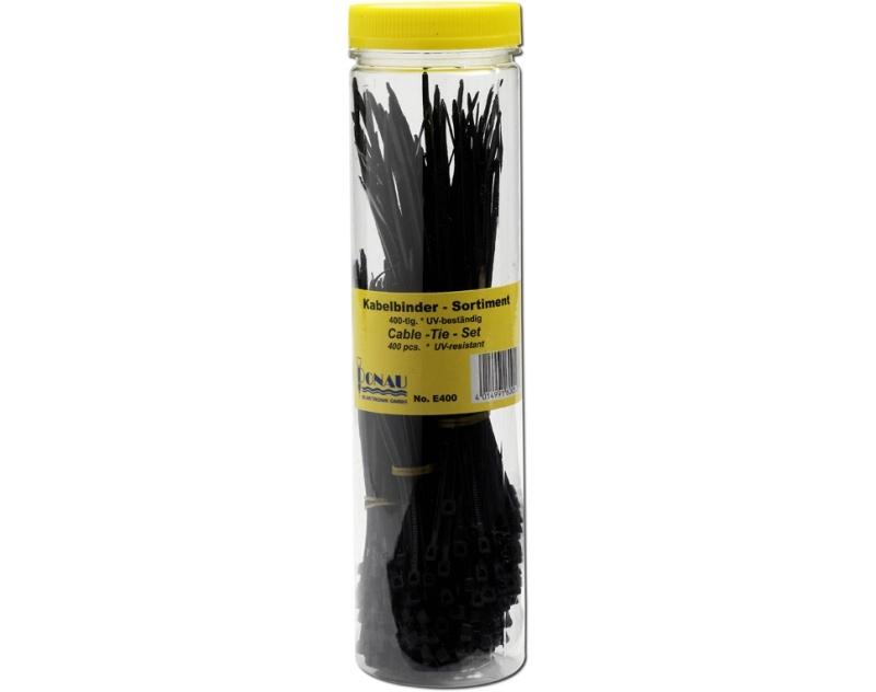 Kabelbinder Sortiment 400-tlg. schwarz