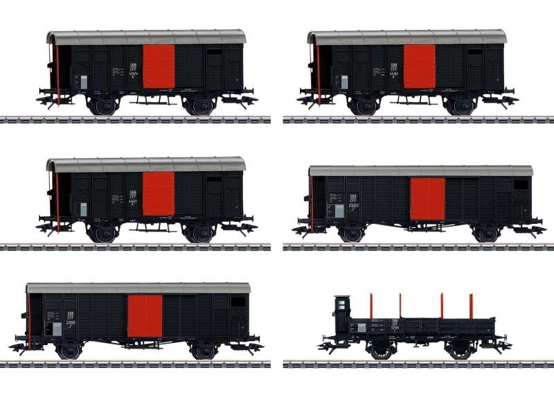Güterwagen-Set zum Köfferli, SBB, AC, Spur H0