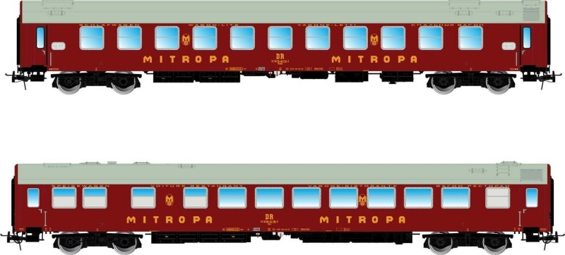 2-tlg. Set Pannonia-Express (WR, WLAB), rot, DR, DC, Spur H0