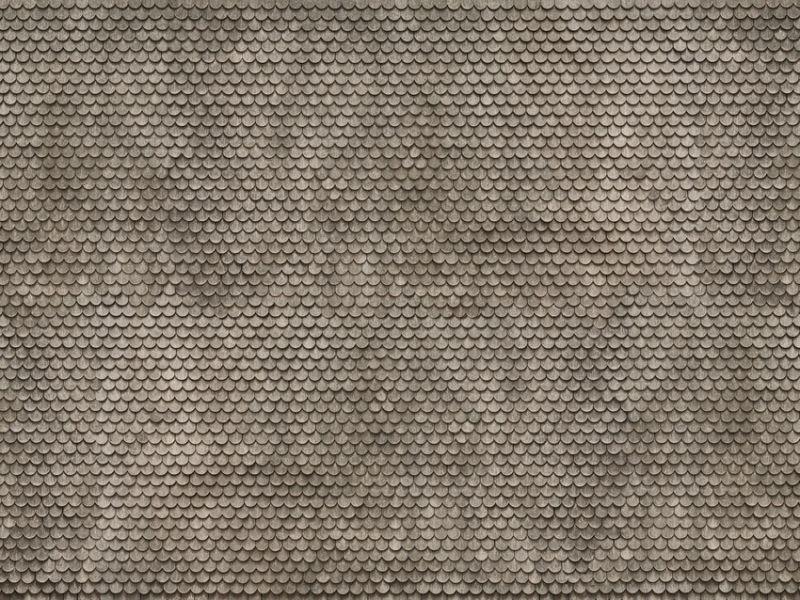 3D Kartonplatte Bieberschwanz grau, Spur H0