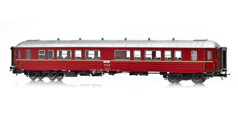 Topline Personenwagen B3-2 25512 Typ 3 der NSB,Rotbraun, H0