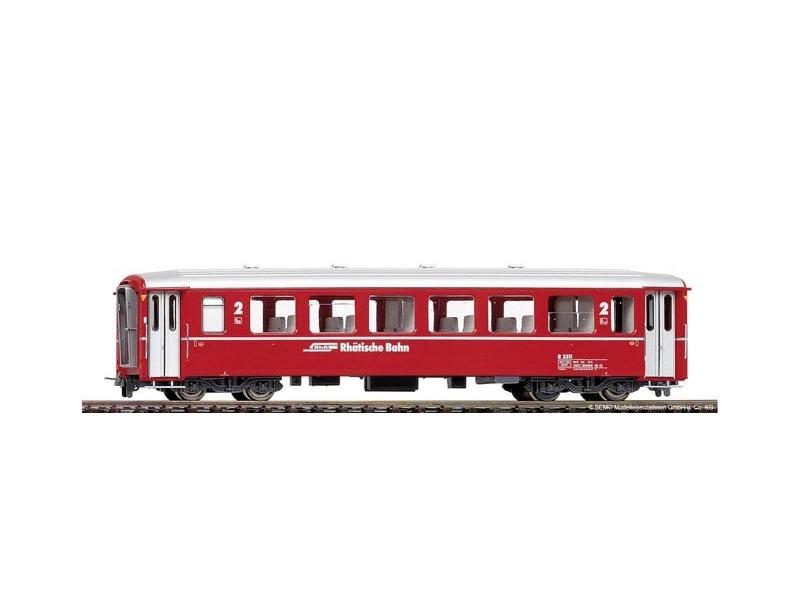 Einheitswagen I B 2313 Berninabahn rot der RhB, Spur H0m