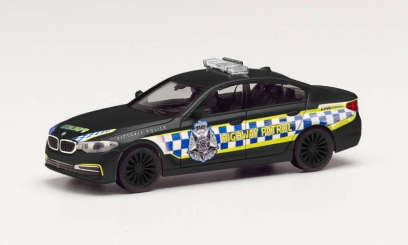 BMW 5er Limousine Victorian Highway Police,schwarz, 1:87/H0