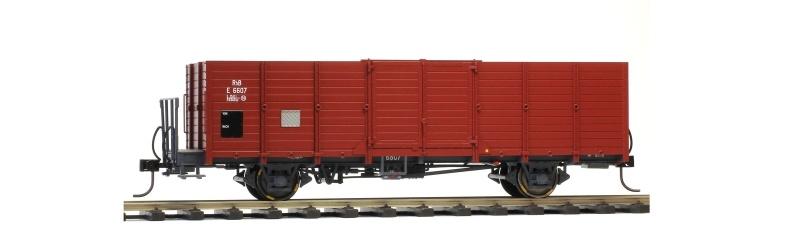 RhB E 6607 Holzwand-Hochbordwagen, Spur 0m
