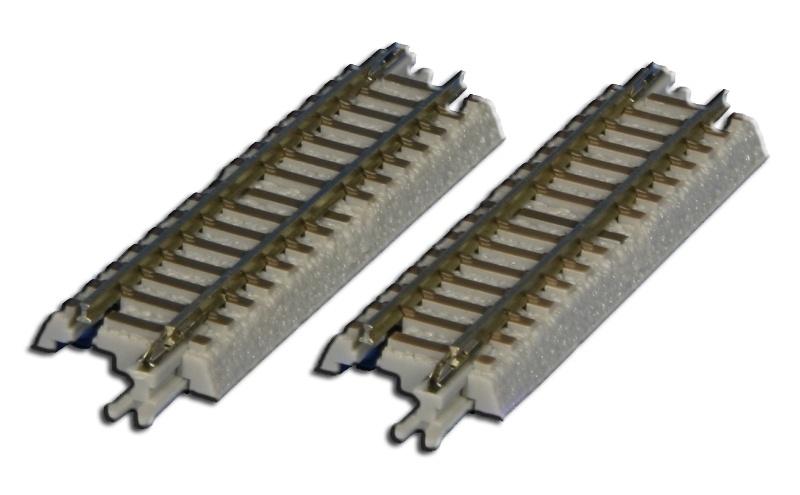 Gleis gerade, 55 mm, mit Anschlussblende, Spur Z