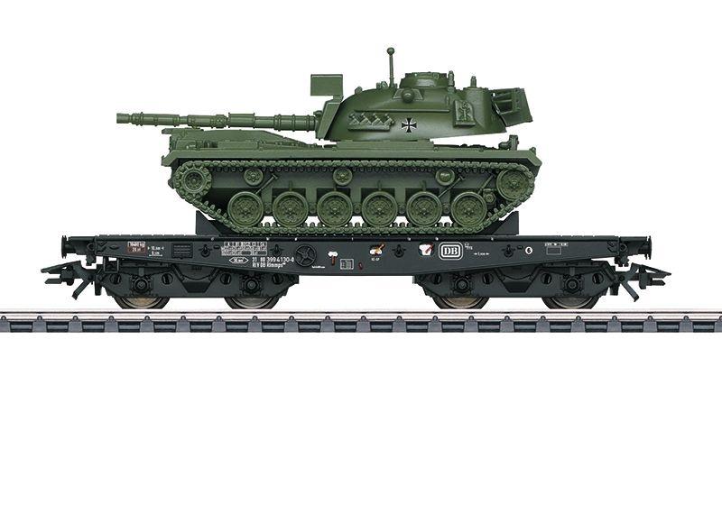 Schwerlastwagen Rlmmps 650 der DB m. M48 Panzer, Ep.IV, H0
