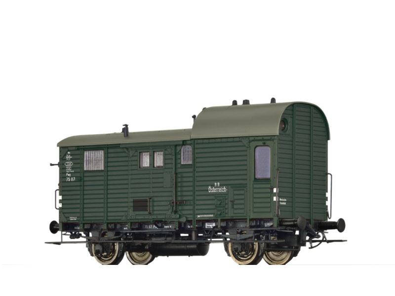 Güterzuggepäckwagen Pwg pr 14 der BBÖ, III, H0