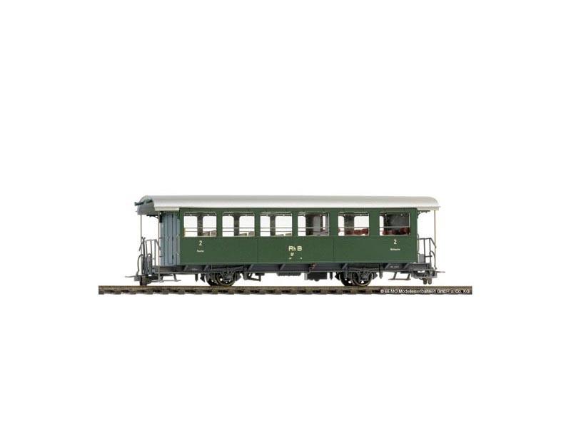 Zweiachs-Personenwagen grün AB2 1419 der RhB, Spur H0m