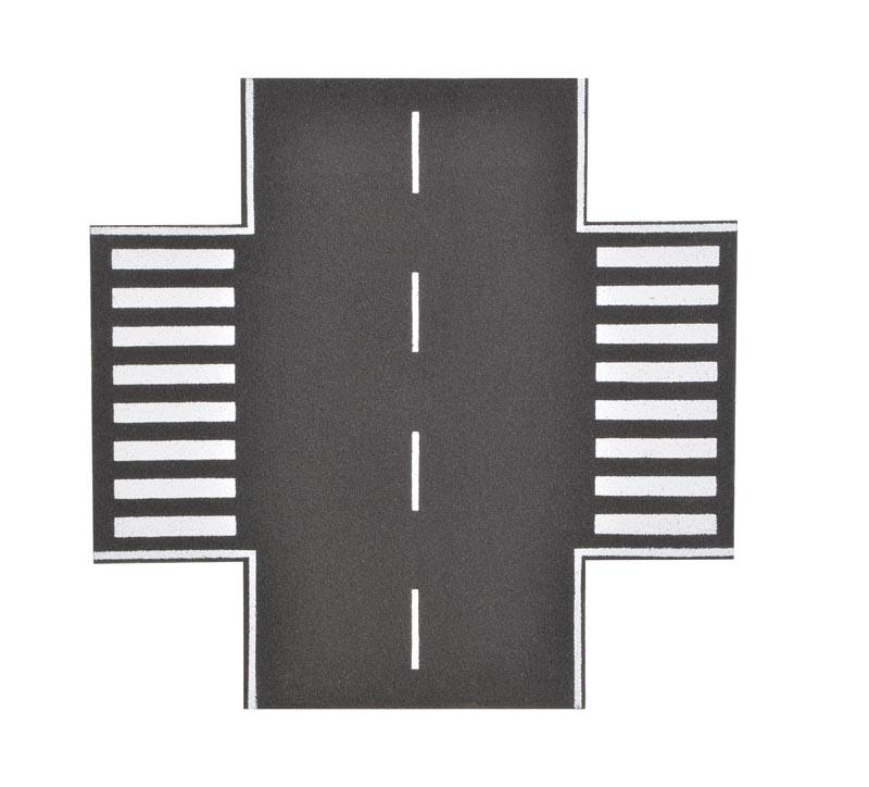 Straßenplatte Asphalt, X-Kreuzung, Spur H0