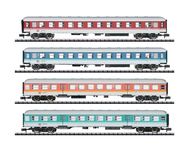 Personenwagenset Neue Farben, 4-teilig, Epoche IV, Spur N