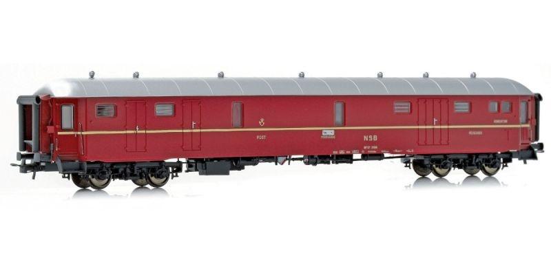 Topline Post-, Gepäck- &Schaffnerwagen DF37 21306 der NSB,H0
