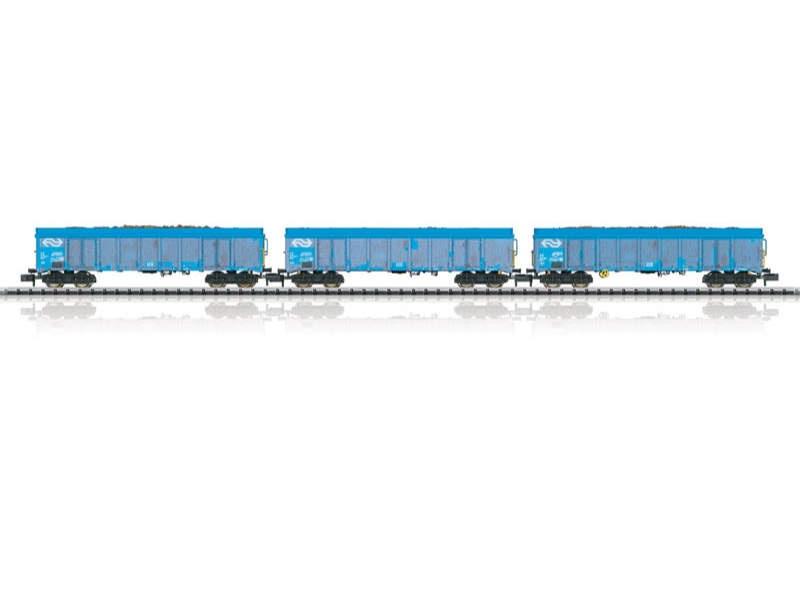 Güterwagen-Set Holzhackschnitzeltransport NS Spur N