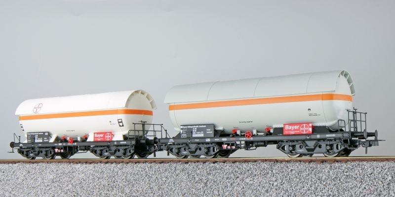 Gas-Kesselwagen Set ZAG 620, Bayer, DB, weiß, DC, H0