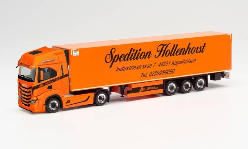Iveco S-Way Kühlkoffer-Sattelzug Spedition Hollenhorst, H0