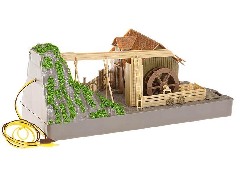 Wassermühle mit Pumpe Bausatz H0