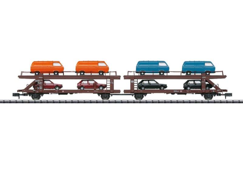 Autotransportwagen Laekks 553 der DB, Minitrix Spur N