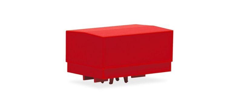 Ballastpritschen groß für Schwerlastzugmaschine, rot (2) H0