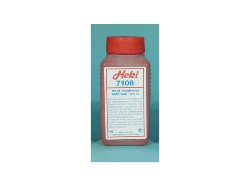 Acrylfarbe Rotbraun, 200 ml
