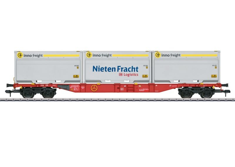 Container-Tragwagen Sgns 691, DB AG, WoodTainer XXL, Spur 1