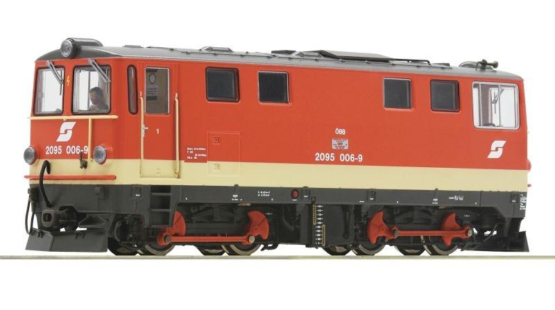 Diesellokomotive 2095 006-9 der ÖBB, DC, Spur H0e