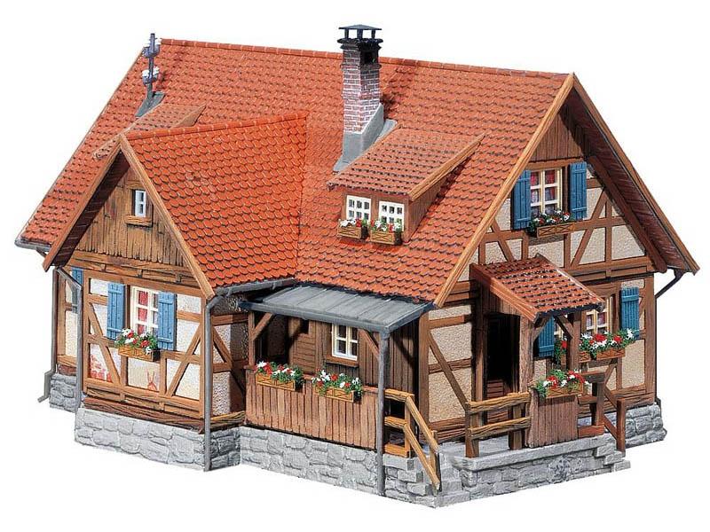 Ländliches Fachwerkhaus Bausatz H0