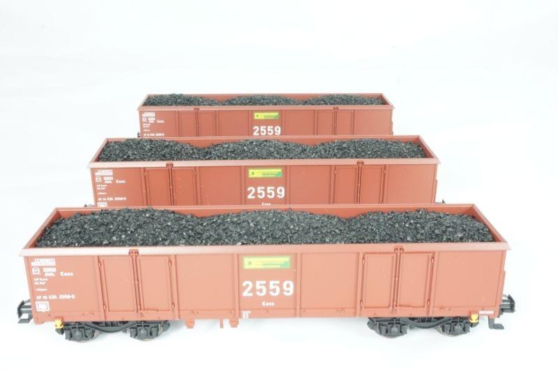 3x Sondermodell Offener Güterwagen Eaos der DE 2559 AC