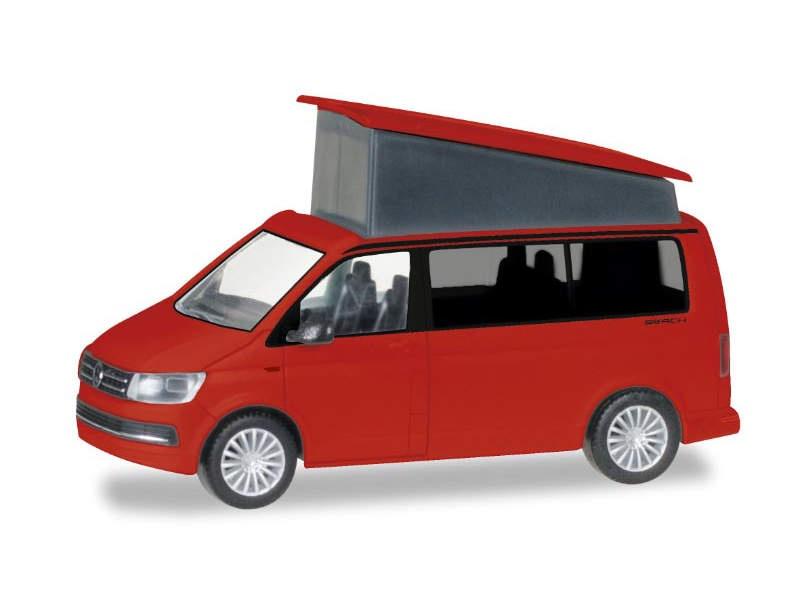 VW T6 California, kirschrot, 1:87 / H0