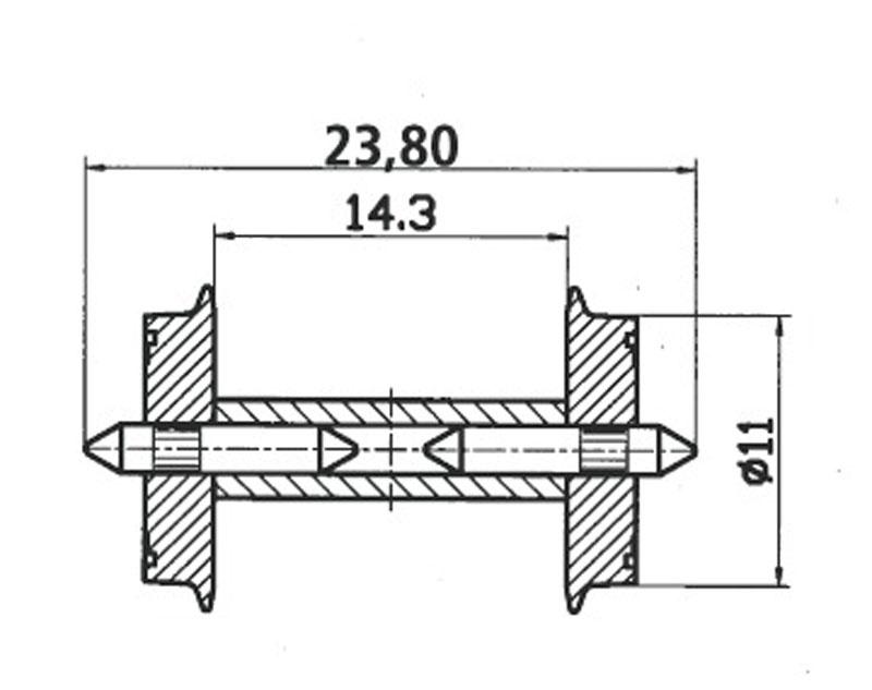 DC-NEM-Normradsatz für N28 H0