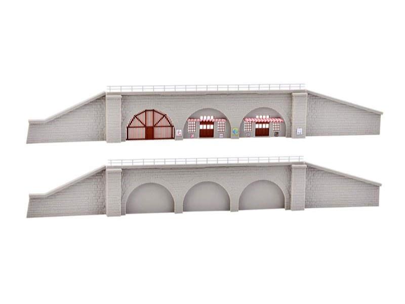 Bahndamm Stützmauern, 2 Stück, Bausatz, Spur N/Z