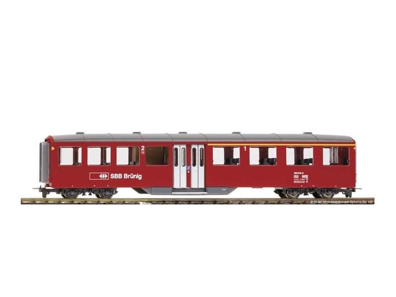BEMO 3258438 Mitteleinstiegswagen AB 478 rosso 1. 2.Klasse, SBB, Spur H0m